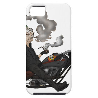Greeny Granny on motorcycle iPhone 5 Covers