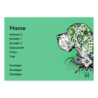 Greeny Great Dane Large Business Card