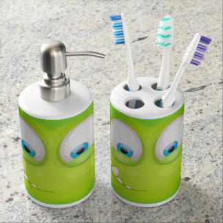 Greeny Muglee - Big Eye Toothy Soap Dispenser And Toothbrush Holder