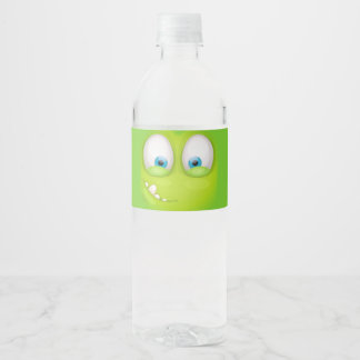 Greeny Muglee - Big Eye Water Water Bottle Label