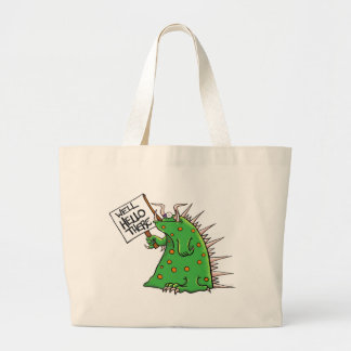 Greep Graphic Well Hello There Large Tote Bag