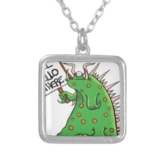 Greep Graphic Well Hello There Silver Plated Necklace