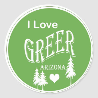 Greer Arizona Round Sticker