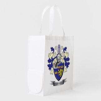 Greer Family Crest Coat of Arms Reusable Grocery Bag