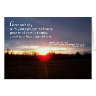 Greet Each Day... Religious Card