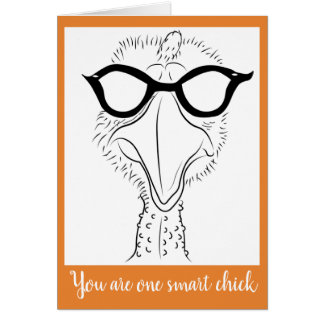 Greeting card 5x7 (one smart chick)