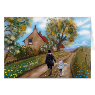 Greeting card: A country walk Card