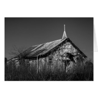 Greeting Card - Abandoned Texas Country Church