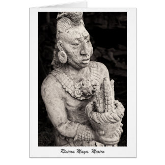 Greeting Card - Ancient Mayan Figure - Mexico