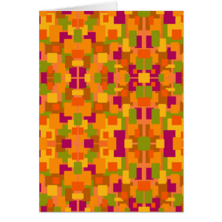 Greeting Card Autumn Patch Multi Fractal Art