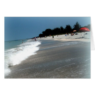 "Greeting Card: ""Beach Scene"" Sanibel Island, FL Card"
