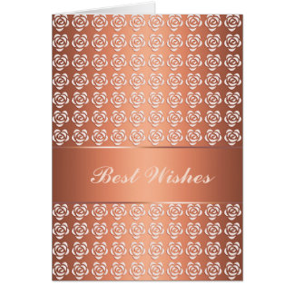 Greeting card. Best Wishes. Text. Card