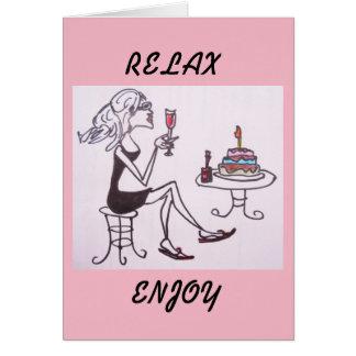 GREETING CARD - BIRTHDAY LADY
