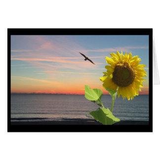 Greeting Card, blank Inside, Sunrise Sunflower Card
