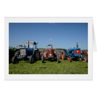 Greeting Card (Blank) - Vintage Steam Tractors