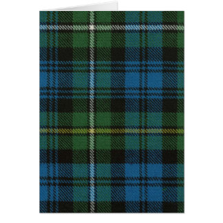 Greeting Card Campbell of Argyll Ancient Tartan