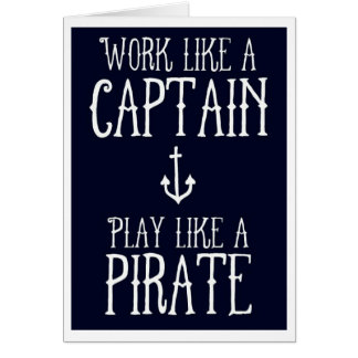 Greeting Card - Captain/Pirate
