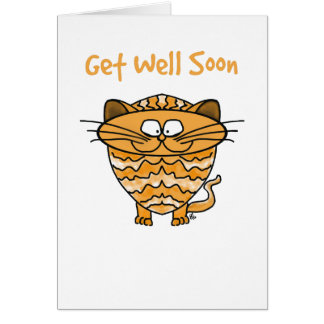 Greeting Card -Cat - Get Well Soon