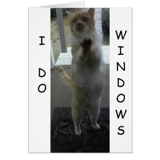 GREETING CARD: Cat Standing Against Window Card