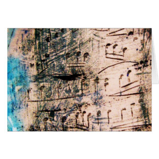 Greeting Card - Ceramic Music with blue