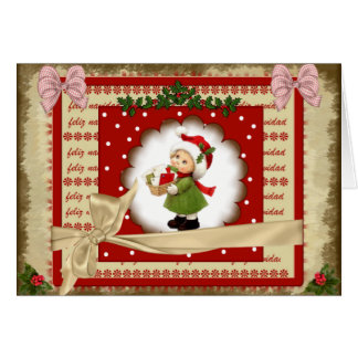 Greeting card Christmas 2017 style scrap