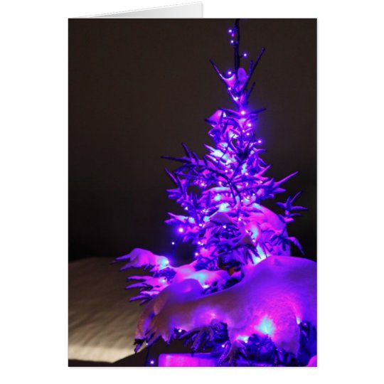 Greeting Card-Christmas Tree in Violet Card
