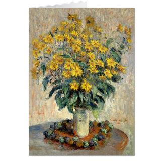 Greeting Card, Claude Monet Jerusalem Artichoke Card
