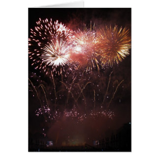 Greeting card : fireworks display