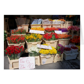 Greeting card flower stall, Bavaria,  Germany