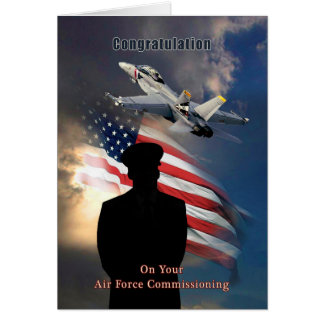 Greeting Card for Air Force Commissioning