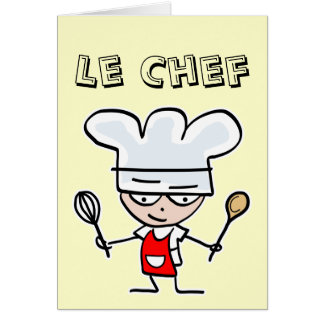 Greeting card for cooks