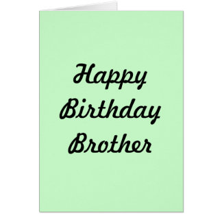 GREETING CARD(HAPPY BIRTHDAY BROTHER) GREETING CARD