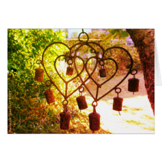 Greeting Card - Heart Wind Chimes