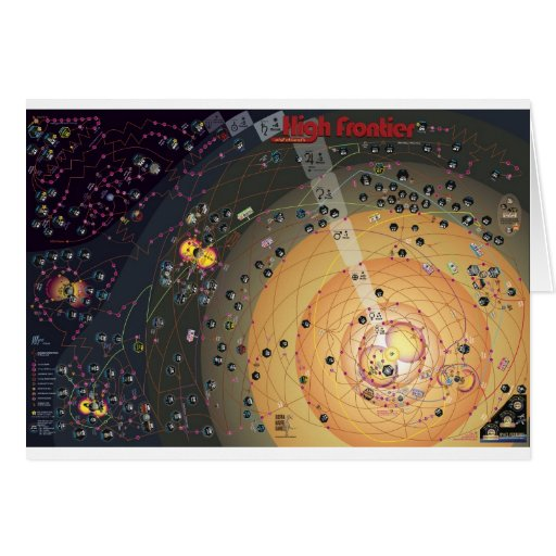 Greeting Card, High Frontier Colonization Greeting Card