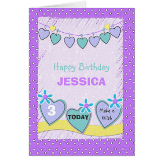 Greeting Card little girl birthday