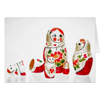 Greeting card Matryoshka