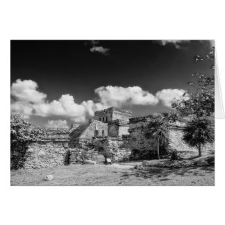 Greeting Card - Mayan Ruins - Tulum, Mexico
