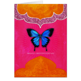 Greeting Card. Miracles happen Card