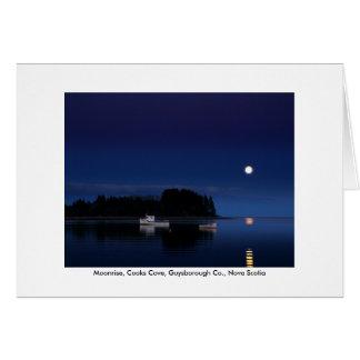 Greeting Card - Moonrise, Cooks Cove