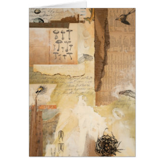 Greeting Card- Nature Ephemera: Flycatcher Fossil Card