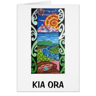 Greeting Card - NZ- Kiaora - Arohanui