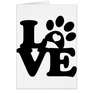 Greeting Card Pet Love Paws