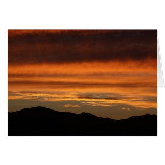 Greeting Card - PHOTOGRAPH OF ORANGE SUNSET