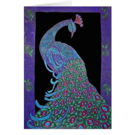 Greeting Card - Proud Peacock