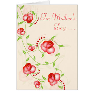 Greeting Card - Red Ombre Roses