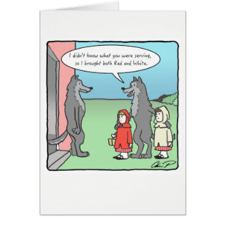 Greeting Card: Red or White Card
