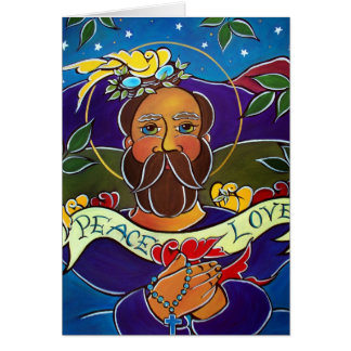 Greeting Card - Saint Francis and the Birds by Jan