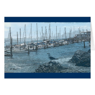 Greeting Card-Seagull Keeping Watch Card