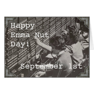Greeting Card - September 1st - EMMA NUTT DAY