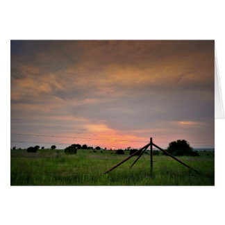 Greeting Card - Texas Sunset